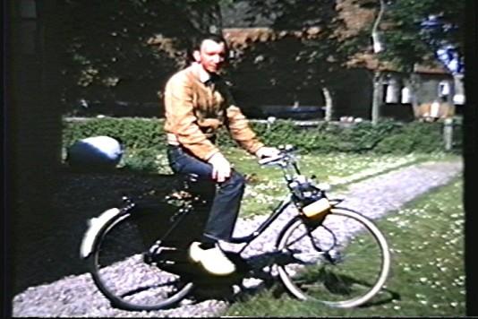 ED on Solex Bike