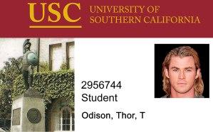 University-of-Southern-California-Novelty-Student-ID