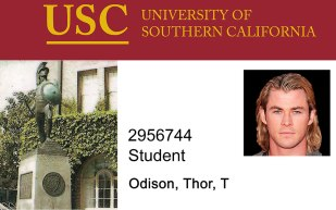 University-of-Southern-California-Novelty-Student-ID